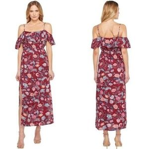 Lucky Brand floral off the shoulder maxi dress